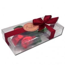 caixa 3 rosas vermelhas