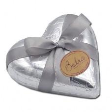 coração 120 gramas prata