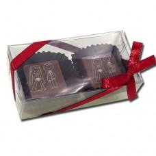 caixa com 2 bombos noivinhos