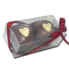 caixa 2 corações 26 gramas cada