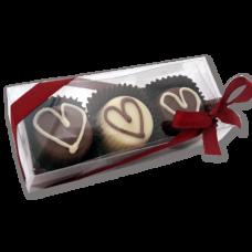 caixa 3 bombons coração