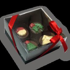 caixa 4 bombons natal