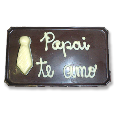 placa M mini gravata pai